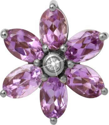 Endless Charm Big Amethyst Flower Silber 21800