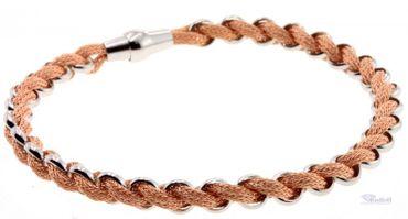 Damen Armreif Armband 11421970 echt Silber 925 rosévergoldet Magnetschliesse