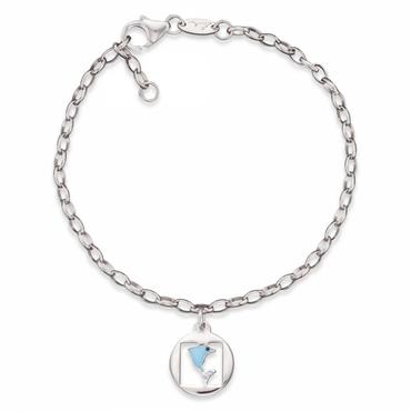 Herzengel Kinder Armband mit Delfin als Symbol für Freiheit 16cm HEB-07FREEDOM