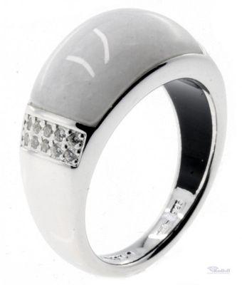 FOSSIL Damen Ring Silber 925 JFS00178040 Quarz weiß