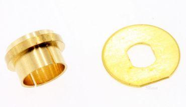Zeiger Buchsen Futter 1 Paar für Uhrwerk Junghans 838 738 Eurolochung Messing