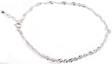 Damen Schmuck Fußkette ITRR Singapoore echt Silber 925 Fußkettchen 11396448