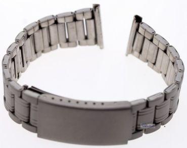 Titanium Uhren Armband mit Faltschließe 18-22 mm Bandanstoß Titanband 2855206017