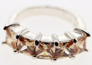 Echt Silber Damen Ring Schmuck Fingerring W 51 Sterlingsilber champagnerfarben