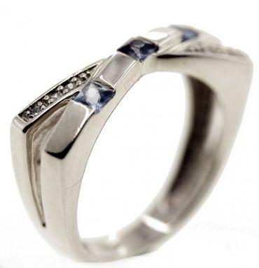 Echt Silber Damen Ring Schmuck Fingerring W 52 Sterlingsilber synt. Zirkonia