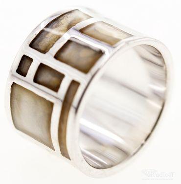 Echt Silber Damen Ring Schmuck Fingerring W 52 Sterlingsilber 27012326w grau