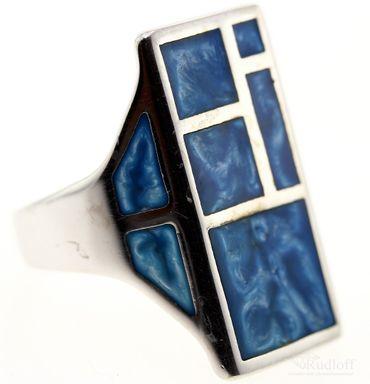Echt Silber Damen Ring Schmuck Fingerring W 56 Sterlingsilber 27012327 blau