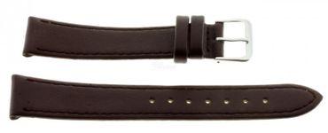 Lederband günstiges Uhren Armband echt Leder Basic 141-xl dunkelbraun XL