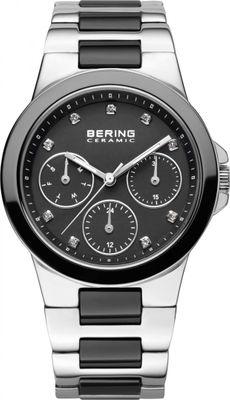 BERING Damen Uhr Keramik schwarz 32237-742 Safirglas Ceramic ladie´s watch