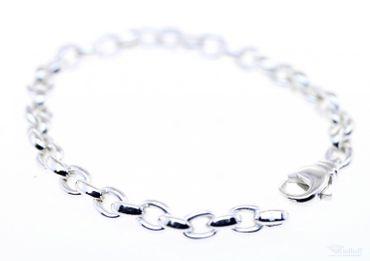 Armband Armkette echt Silber 925 Sterlingsilber Anker 19cm bracelet 40520 massiv