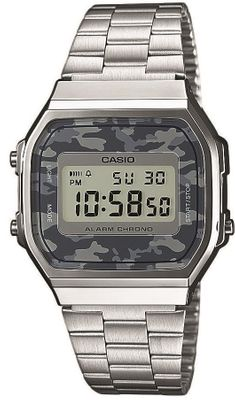 CASIO Uhr A168WEC-1EF Retro Digitaluhr Herren Gents Watch Camouflage