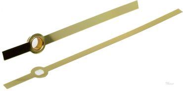 Junghans W838, 817 Zeiger Baton Balken ALU goldfarbig Länge 76mm  Eurolochung