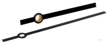 1 Paar Zeiger Baton Balken ALU schwarz Länge 76 mm für Jng 838 Eurolochung