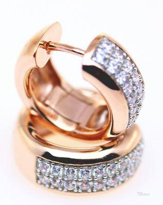 Schmuck Damen Creolen Ohrringe echt Sterling Silber 925 rosé Zirkonia 19058