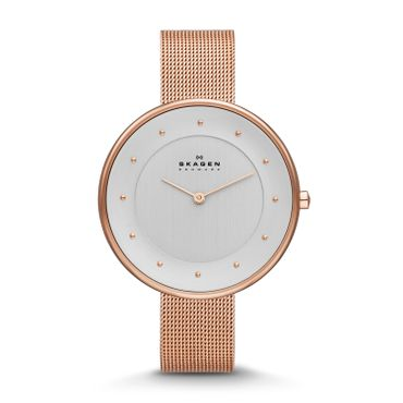 Skagen Damen Uhr moderne Stahl Metallband SKW2142 rosé ladies watch