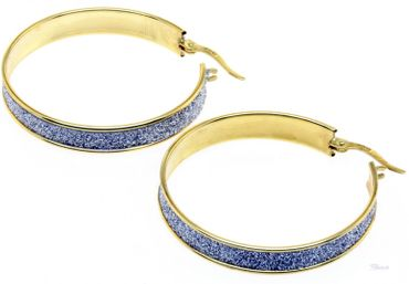 Ohrringe  Creolen Gold 333 bicolor echt Gold 8 Karat Earrings 11444490