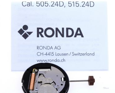Uhrwerk Ronda 505.24D (Dual-Time) Ersatzwerk für Armbanduhr Quarz Analog 10 ½ Linien