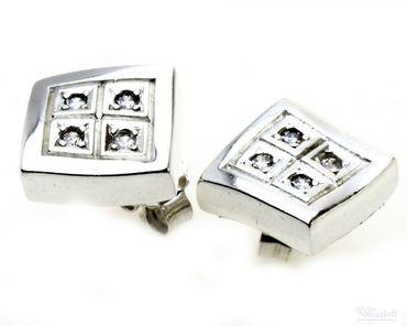 Schmuck Damen Stecker Ohrringe echt Sterling Silber 925 Zirkonia