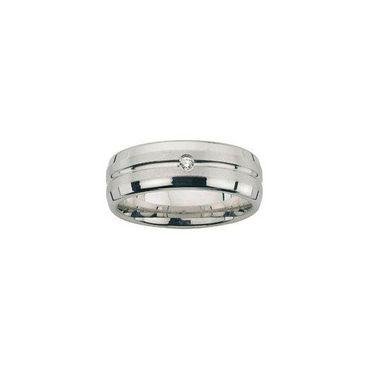 Freundschaftsring Sterling Silber 925 rhodiniert Brillant 0,02ct wsi/6mm BFR99036