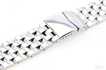 Massives Edelstahl Armband Uhrenarmband 24 ,26 mm Breite 088-xx