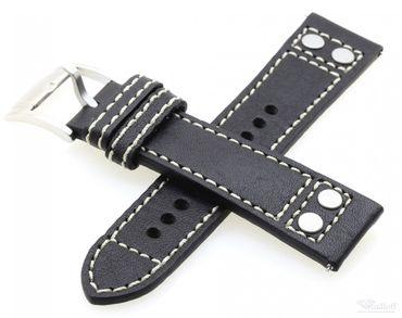 Fossil echt Lederband schwarz Uhrenarmband FS4978 FS4980 FS4936 FS4962  FS4937