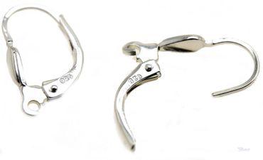 Brisur für Ohrringe Tropfenform 925 Sterling Silber Öse längs