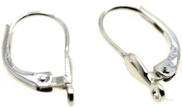 1 Paar Ohrring Brisuren 925 Sterling echt Silber Tropfenform Öse quer 840010