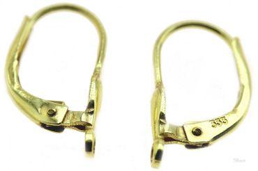 1 Paar Ohrring Brisur 333 echt Gold 8 kt. Tropfenform Öse quer 840012