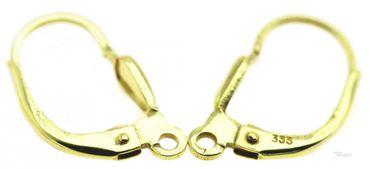 1 Paar Ohrring Brisur 333 echt Gold 8 kt. Tropfenform Öse längs 840002