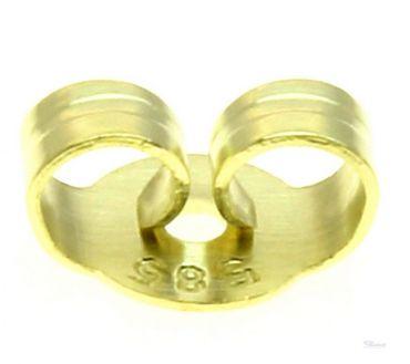 Ohrmutter Ohrstecker Schraube Mutter Klemm-Muttern 14kt echt Gold 585 Ear Nuts