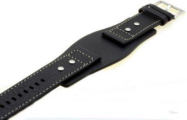 Fossil Original Lederband Ersatzband Armband für AM3696 JR9990 JR9991 JR1122 mit Federstegen 24 mm