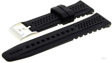 Fossil Original Kautschuckband Ersatzband Armband schwarz 22 mm CH2694