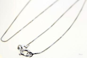 Damen Collier Kette Venezianer fein 925 Sterling Silber rhodiniert 45cm