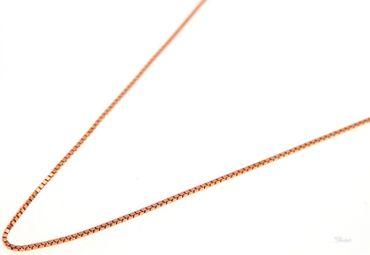 Damen Collier Kette Venezianer fein 925 Sterling Silber rosé-vergoldet 45cm
