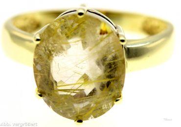 Damenring echt Gold 8 Kt. mit weißemStein Vintage AR321778k GR.56, 17,8