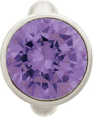 Endless Charm Round Amethyst Dome Silver 41158-1