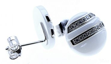 ITRR Damen Ohrstecker 925 Sterling Silber Ceramic