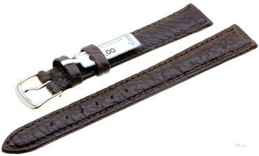 Uhrenarmband Ersatzband Leder Record dunkelbraun 3150-02 Extralang
