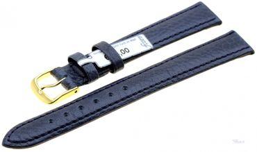 Uhrenarmband Ersatzband Leder Record blau 3150-06 Extralang