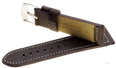 Uhrenarmband Ersatzband Leder Snow–Calf  dunkelbraun 338-02 Herren Standard