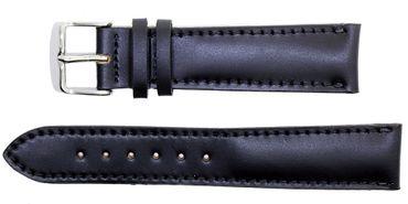 Fluco Lederband Shell Cordovan Handarbeit von Fleischmann black 18mm