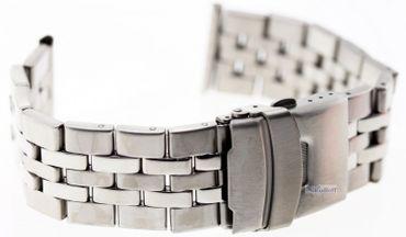 Massives Edelstahl Uhren Armband mit Faltschließe CC 221