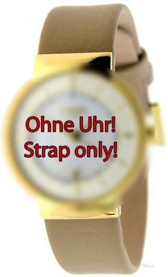 Boccia Original Lederband Armband für Uhr Modell 3123-11