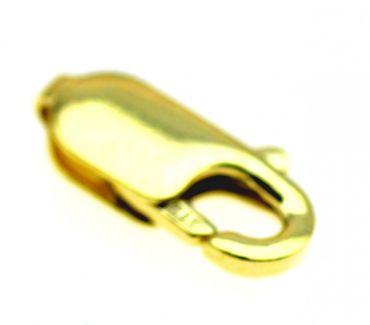 Schmuck Karabiner leichte Ausführung echt Gold 8kt 333 12 mm