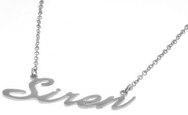 Namenskette Siren Damen Collier Hals Kette 925 Sterling Silber