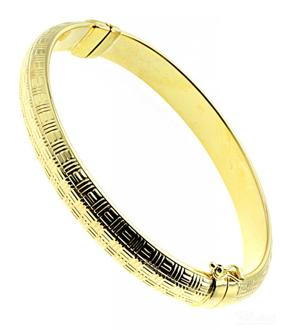 Damen Armreif mit Scharnier und Sicherheitsacht echt Gold 375 9 Karat 18000047 | Uhrenrudloff