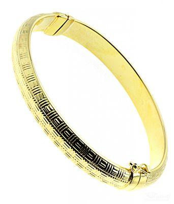 Damen Armreif mit Scharnier und Sicherheitsacht echt Gold 375 9 Karat 18000047
