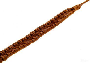 Geflochtenes Lederarmband braun zum Knoten LAB07