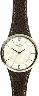 BOCCIA UHR TITANIUM 3161-13 Titan Damen Armbanduhr Quarz Leder womens wrist watch WR