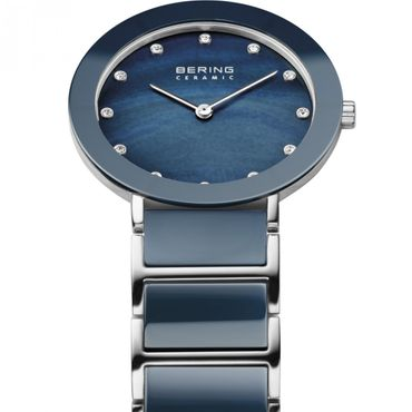 BERING Time Damenuhr Ceramic blau11435-787